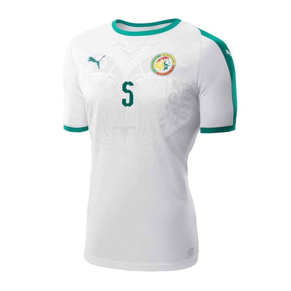 6b55c573a8fec Amazon.com: PUMA GANA #5 Senegal Men's Home Jersey World Cup Russia ...