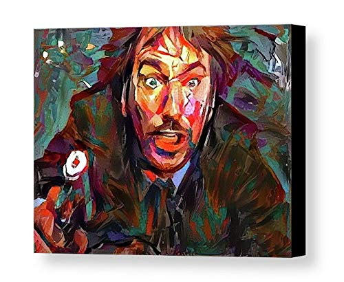 Framed Abstract Die Hard Movie Hans Gruber 8.5X11 Art Print Limited Ed. w/signed COA