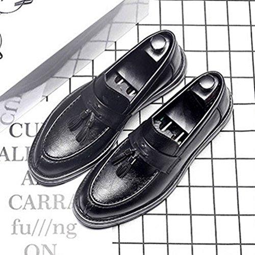 Negro Zapatos Feidaeu Zapatos Hombre Hombre Feidaeu SXZqnYwvqf