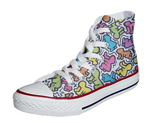 Converse All Star chaussures coutume mixte adulte (produit artisanalPersonnalisé) la vie stilizzato