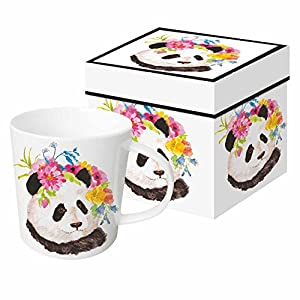 Paperproducts Design PPD 603370 Flora Panda Mug in Gift Box, 13.5oz, Multicolor