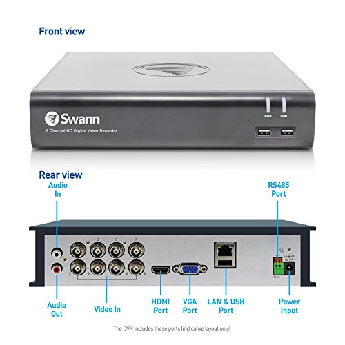 Swann  8 Channel Security System SWDVK-845808 1080p Full HD DVR-4575 with 1TB HDD & 8 x 1080p Thermal Sensing Cameras PRO-1080MSB