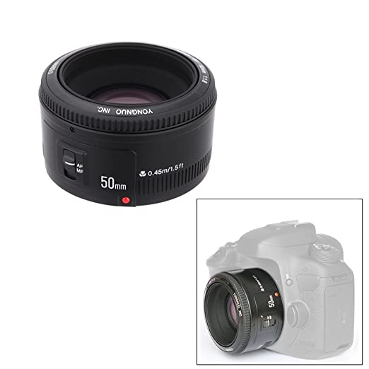 85 opinioni per YONGNUO YN EF 50mm f / 1.8 AF Obiettivo 1: 1.8 Standard Prime Apertura Lente