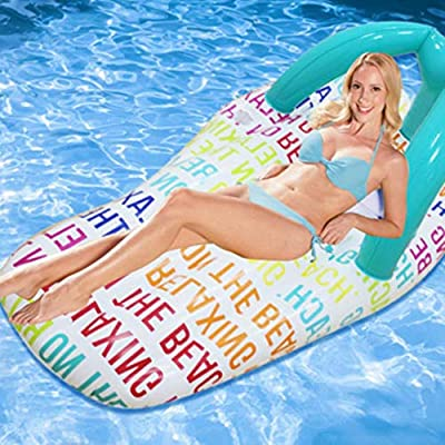 OGAWOO Inflable Anillo de natación 150 * 75 cm Gran Piscina Anillo ...