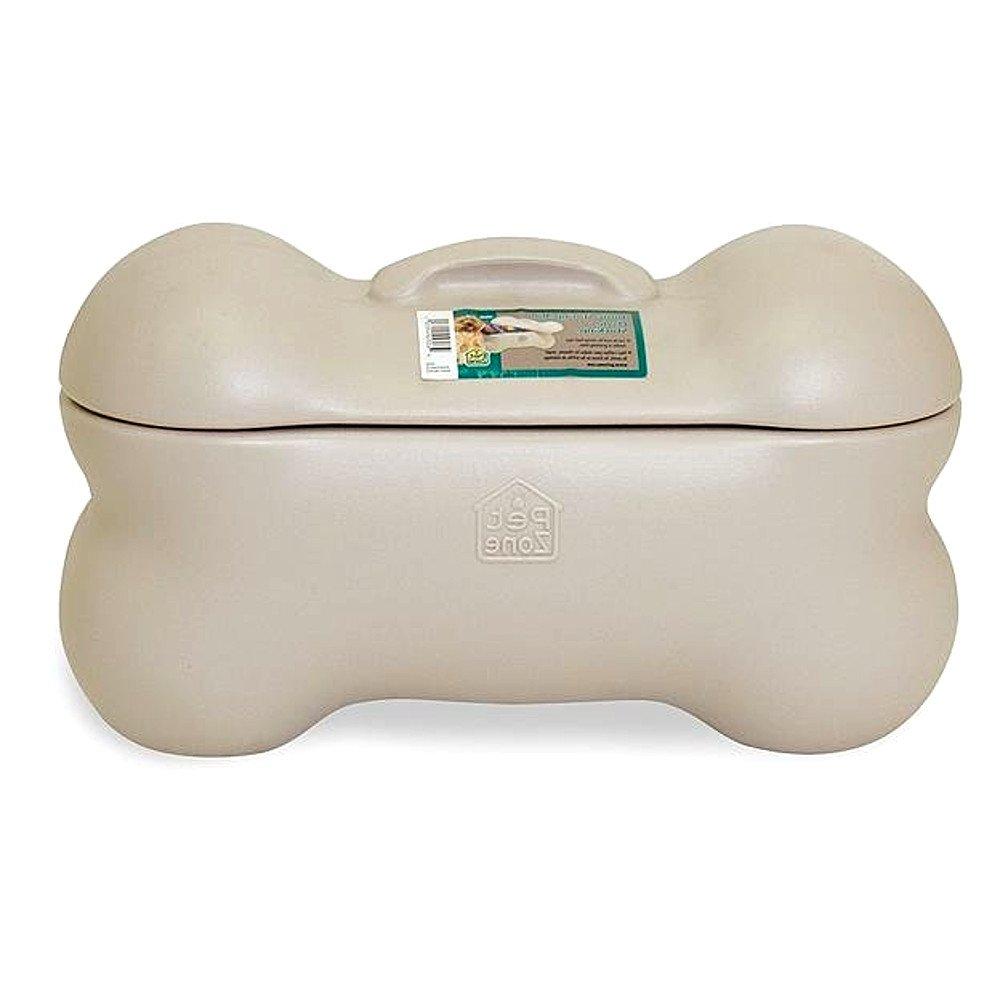Dog Bone Storage Bin for Pets, Small, Decorative Plastic Pet Dog Bone Storage Box & E-Book