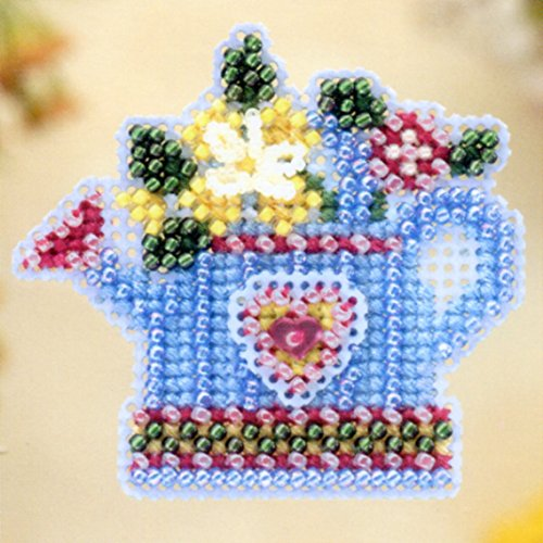 Flower Showers Beaded Counted Cross Stitch Ornament Kit Mill Hill 2005 Spring Bouquet (2005 Glass Ornament)
