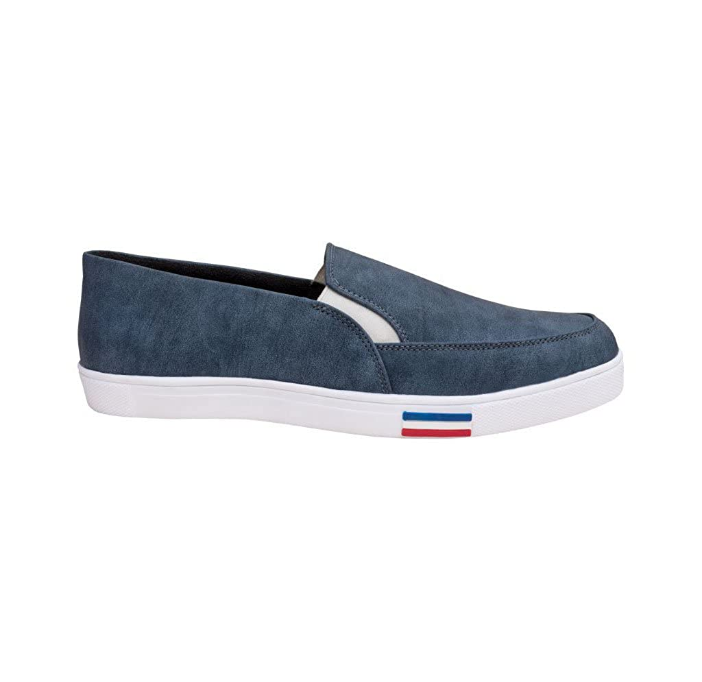 Buy FashPro Moccasin Blue Casual Shoes