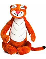 AURORA 60142 The Tiger Who Came to Tea Soft Toy, 10.5-inches, Black, Character from The Book, Orange and White
