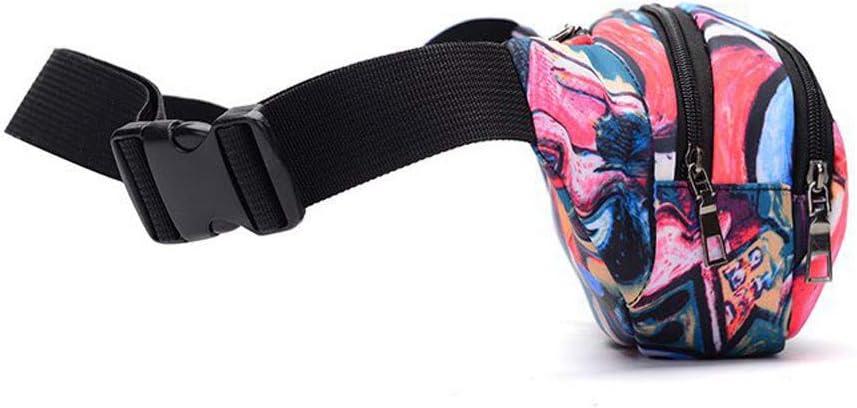 Women Waist Pack Bags Men Fashion Chest Crossbody Bag Printed Bicycle Cycling Sport Belt Bag