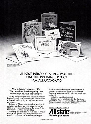 1984 Allstate Insurance  Universal Life  Allstate Insurance Print Ad