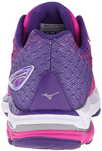 Mizuno Women's Wave Rider 19 Running Shoe Fuchsia Purple/Silver free shipping limited edition cheap price s0ZHyGjRo