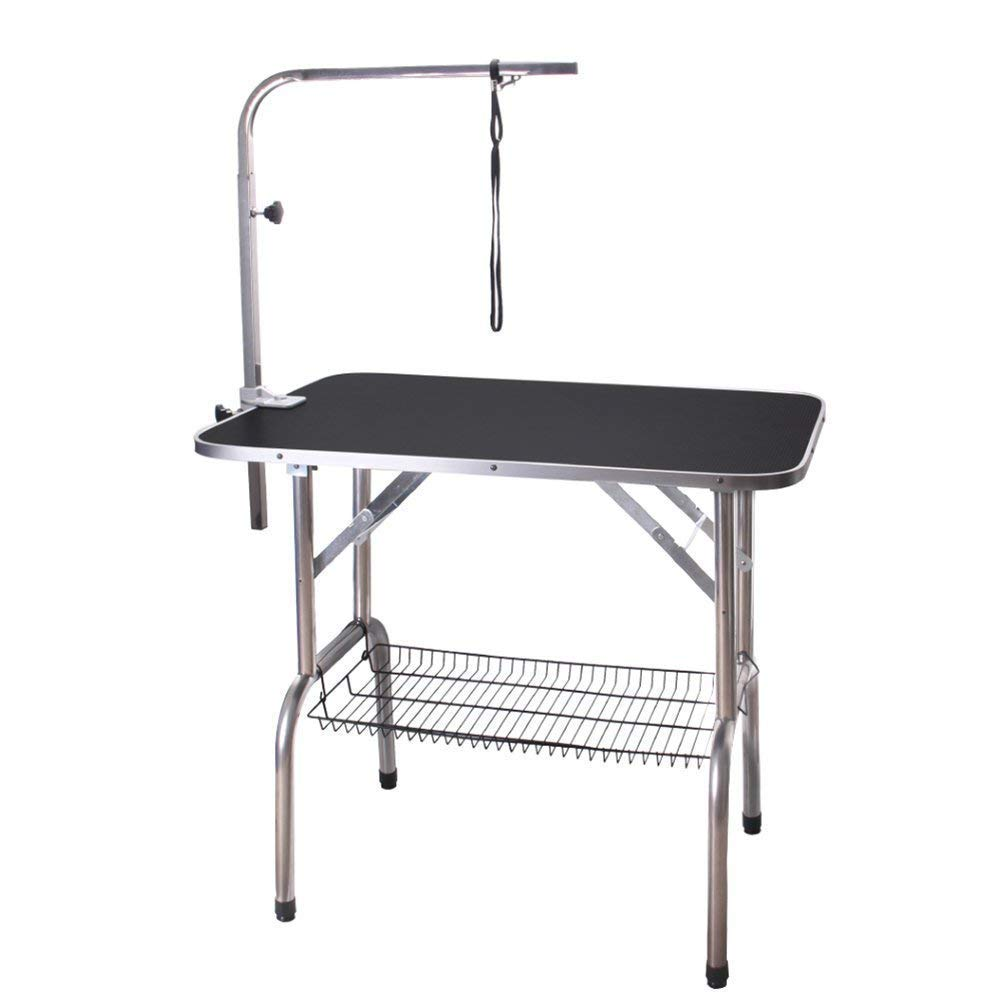Polar Aurora Pingkay 36'' Heavy Duty Pet Professional Dog Show Foldable Grooming Table w/Adjustable Arm & Noose & Mesh Tray by Polar Aurora (Image #2)