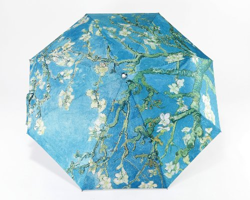 Oh My Lady Van Gogh's (Almond Blossom) Light-weighted Folding Umbrella with Anti-UV and Windproof Funtions Suitable for Both Sunny and Raining Days- Available In 5 Patterns