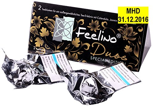 AKTION: Edle 2er-Box Weißtee-Teeblumen mit je