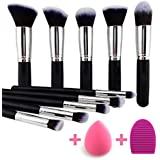 BEAKEY Makeup Brush Set Premium Synthetic Kabuki Foundation Face Powder Blush...