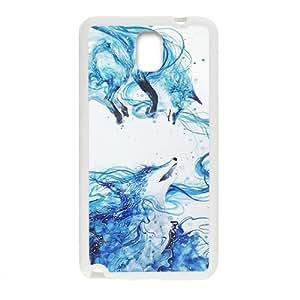 Custom Retro Deer Watercolor Wolf Pattern Skin Case for Samsung Galaxy Note 3