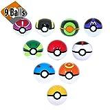 9 Random Pokeballs No Duplicates + Bonus Toy