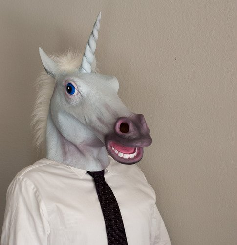Halloween Party Decorations Creepy Horse head latex Rubber Mask White UNICORN Perfect for Harlem Shake& Gangnam Style