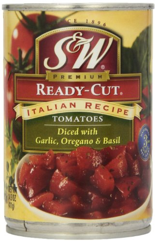 S&W Italian Ready Cut Tomatoes, 14.5-Ounce (Pack of 12)