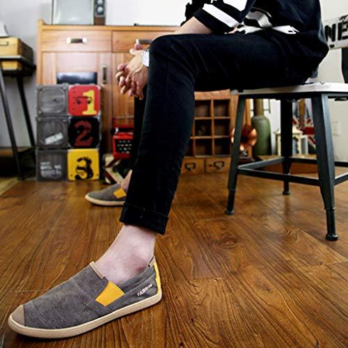 Color de Black Hombres Tendencia los Hombres de Salvajes los de de Zapatos Lona de Ocasionales Zapatos 43 Gray Zapatos Size de Lona WangKuanHome Zapatos de Lona Verano Mezclilla wgAxUU7p