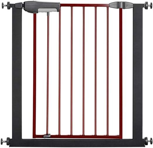 Jlxl Cierre Automático De La Puerta Superior E Inferior Doble Cerradura De Hierro De Madera Escaleras De Seguridad De Protección Gate Bar Mascotas Cerca De Aislamiento (Color : Black): Amazon.es: Productos para