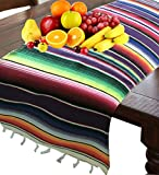 Mexican Serape Table Runner - Fiesta Birthday/Wedding Party Supplies Decorations Table Cover