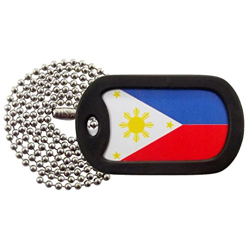Military Dog Tags - Filipino Flag - Flag of The Philippines Dog Tag Necklace - Tag-Z (Necklace Philippines)