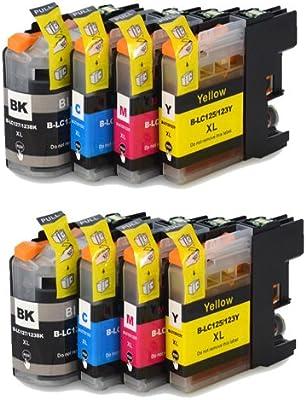 8 XL Colour Direct LC123 / LC121 Cartuchos de Tinta Con Chip Para ...