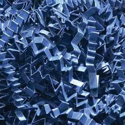 1/2 LB Crinkle Cut Paper Shred - Navy Blue - Gift Basket Fil
