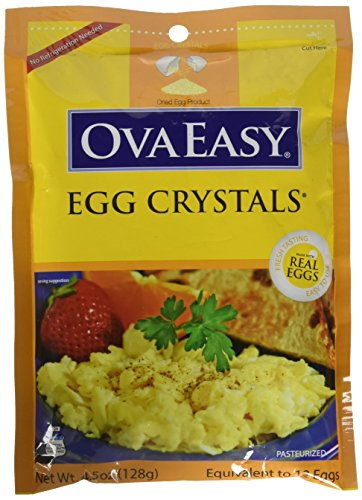 Price comparison product image Ova Easy Egg Crystals – Dehydrated Eggs – Camping and Survival Food - 4.5 oz Bag