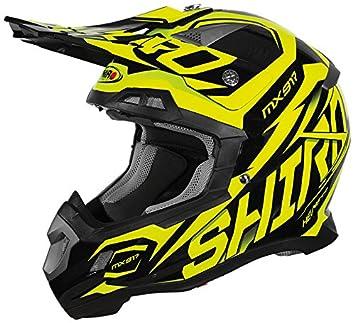 Shiro mx-917 casco, Thunder, color amarillo, tamaño XS