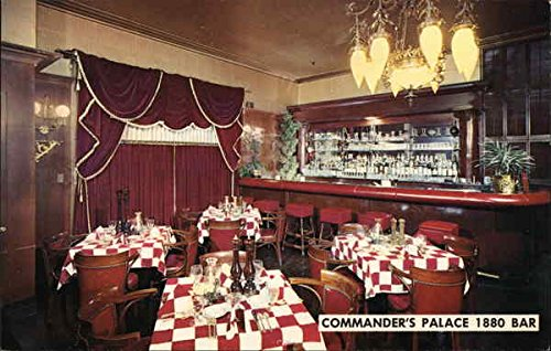 - 1880 Bar of Commander's Palace New Orleans, Louisiana Original Vintage Postcard
