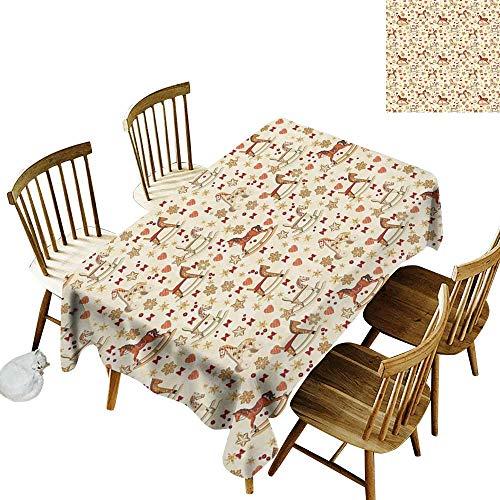 Waterproof rectangular tablecloth W60
