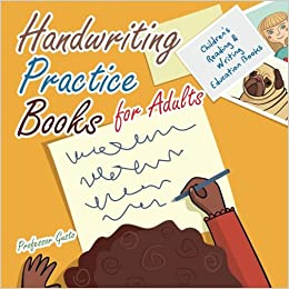 Handwriting Practice Books for Adults : Children's Reading ...