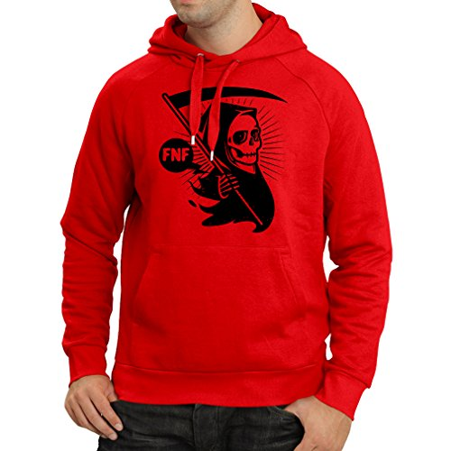 Hoodie Death with sickle, the grim reaper - Halloween outfits, cosume ideas (Small Red Multi Color) (Dry Ice Halloween Ideas)