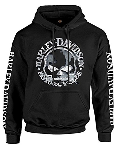 (Harley-Davidson Men's Sweatshirt Willie G Skull H-D Pullover Black 30296648)