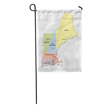 Amazon.com : Semtomn Garden Flag Colorful Maine New England States on new england map united states, new england map outline, southern us states map blank, new england states blank outline, south states map blank, new england maps printable, new england colonies map, southeastern states map blank, mid atlantic states map blank, new england colony rhode island map, midwestern states map blank, new england states us map, northeast states map blank, new england states and capitals, new england states map print outs, new england states capitals game, new jersey map blank, mountain states map blank, new england states map highway, east coast states map blank,