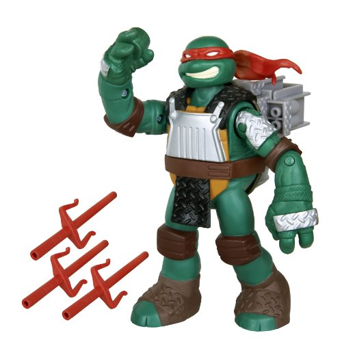 Teenage Mutant Ninja Turtles Flingers Sai Throwing Raphael Figure -