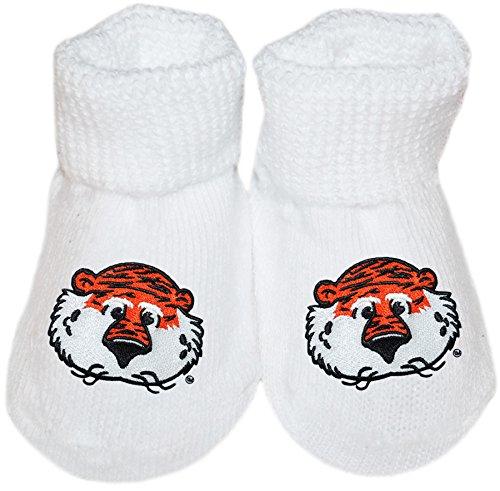 Creative Knitwear Auburn University Aubie The Tiger Newborn Baby Bootie Sock ()