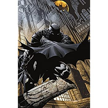22x34 the dark knight movie batman standing poster print posters prints. Black Bedroom Furniture Sets. Home Design Ideas