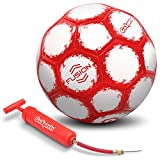 GoSports Fusion Soccer Ball with Premium Pump, Size 4, Red