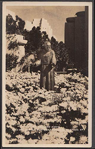 St Francis of Assisi Statue Golden Gate Exposition RPPC postcard