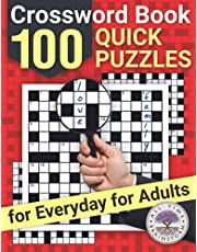 Crossword Book: 100 Quick Puzzles for Everyday for Adults
