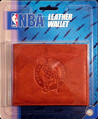 NBA Boston Celtics Embossed Leather Billfold Wallet with Man Made Interior