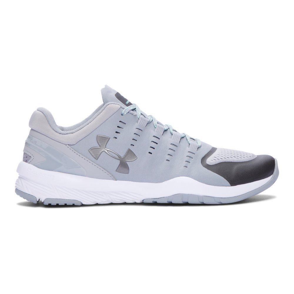 1fad67e6ae7e2 Under Armour Women's UA Charged Stunner Overcast Gray/White/Metallic Pewter  Sneaker 10 B (M)