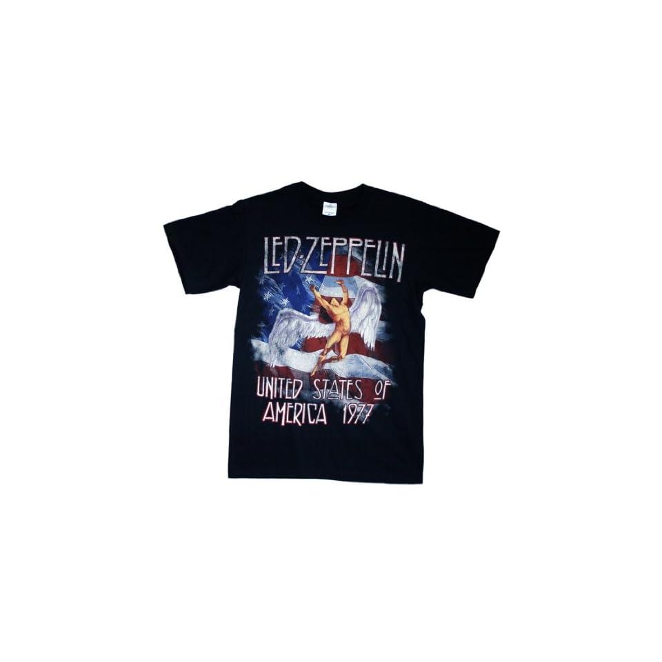 Led Zeppelin   America 1977 T Shirt Size 2X