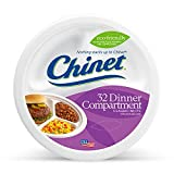 microwavable compartment plates - Chinet Classic White Compartment Plate, White, 10-3/8 Inch, 32 Count