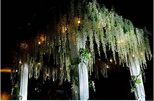 Artificial flower Wisteria curd wedding decoration (white) - 1