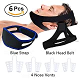 Anti Snore Solution Set, Professional Effective Stop Snoring Sleep Aid Devices Contain Chin strap + Nasal Dilators + Anti Snore Band for Adults Kids