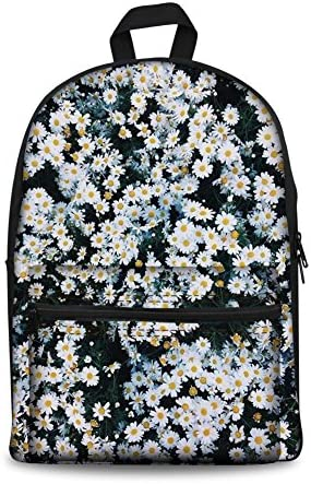 Coloranimal Styligh Korean Style 3D Daisy Printing Canvas Backpack
